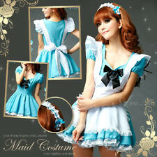 Sexy Cosplay Anime Maid Alice in Wonderland Costume lolita Fairytale Fancy Dress