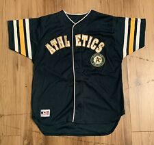 Vintage Mighty Mac Oakland Athletics As Jersey Youth Large (14-16) Green