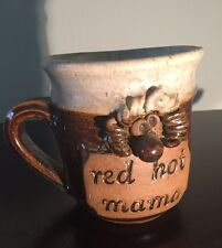 Red Hot Mama Coffee Mug Red Harley Glazed Stoneware Davidson 16 oz Oversized
