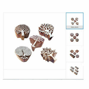 Nature Wooden Block Stamps for Printing on Fabric Textile Paper Clay Pottery