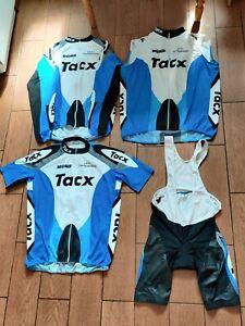 Cycling shirt Jersey suit set Bike BioRacer SpeedWear Racing Tacx Blue Size 6-7
