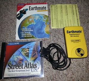 DeLorme Earthmate Hyperformance GPS Receiver, Serial RS232 + Street Atlas USA