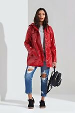 New In! Womens/Ladies Red Festival  Shower Proof Mac/Coat/Jacket  8,10,12,14,16