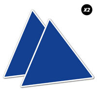 2X Battery Blue Tri Racing Cams Sticker Decal JDM Car Vinyl Track #6782EN