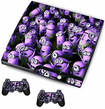Purple Minions Sticker/Skin PS3 Playstation 3 Console/Remote controllers,psk28
