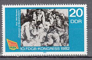 DDR,(PF) 2700 Plattenfehler, weißer Fleck am Ellenbogen,  postfrisch,siehe Scan