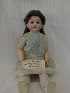 """Rare Vintage German Max Handwerck Bisque Socket Head Sleeping Eyes 22"""" Doll"""