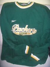 FELPA FOOTBALL AMERICANO N.F.L. GREEEN BAY PACKERS - RICAMATA ORIGINALE REEBOK