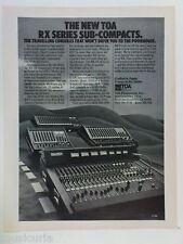 retro magazine advert 1982 TOA mixers / PA