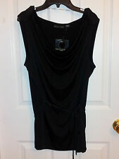 Apostrophe Office Cool Black Onyx Cowl Sleevless Top