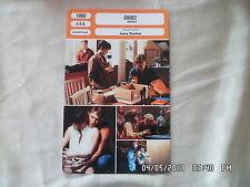 CARTE FICHE CINEMA 1990 GHOST Patrick Swayze Demi Moore Whoopi Goldberg Goldwyn