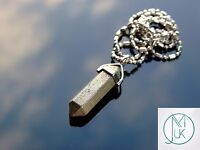 Pyrite Crystal Point Pendant Natural Gemstone Necklace Healing Stone Chakra