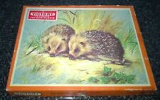 Complete Hayter Vintage Victory Wooden Jigsaw Puzzle Nature Series Hedgehogs