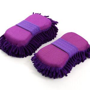 Plush Microfiber Car Glove Soft Cleaning Washing Detailing Auto Care Sponge Mitt