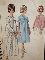 Simplicity Sewing Pattern 5193 Ladies / Misses Nightgown Bedjacket Size 14 UC