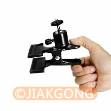 """Photography Backdrop Clamp Clip Holder with 1/4"""" Screw 360 Swivel Mini Ball Head"""
