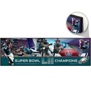 """Philadelphia Eagles Super Bowl LII Wooden Sign 9"""" by 30"""" by WinCraft"""