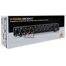 Behringer U-PHORIA UMC404HD Audiophile USB Audio/MIDI Interface 110-240V MINT