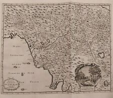 1723 Peter Van der Aa Mappa Carta Geografica Toscana Magnus Ducatus Hetruriae