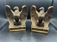 Boston College pair of Brass Eagle Bookends Heavy Great Graduation Alumni Gift