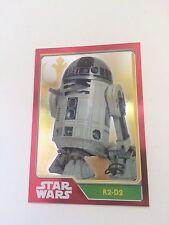 Topps Star wars el despertar del poder Special foil tarjeta r2-d2 Wow rare $$$Top