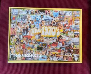 """White Mountain - """"The 1970's"""" Jigsaw Puzzle 1000 Pieces - New Sealed"""