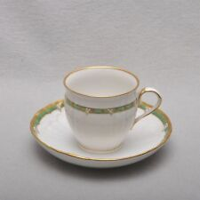 KPM Berlin, Coffee Cup Rocaille Decor 15 Green Strap, 1.wahl, several available