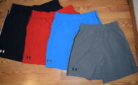 NWT Mens UNDER ARMOUR Heat Gear Loose Fit Pocket Shorts Red Blue Gray M L XL XXL