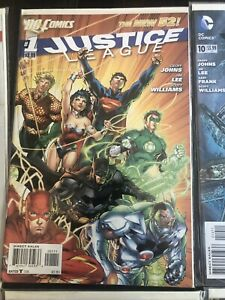 Justice League New 52 HUGE Lot 0, 1, 10-50, Signed