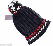 Esprit Bommel Mütze schwarz Trendy Winter warm Grobstrick 30% Wolle NEU