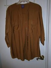 L@@K Beverly Drive 16/18W Button Cuff  Hidden Button Shirt  Nice Style & Color