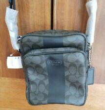 NEW COACH Signature F70589 Grey/Charcoal Shoulder Bag Flight Bag MSRP $198