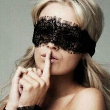 Sexy Lady Black Lace Eye Mask Blindfold Cover Womens Nightwear Costume Role Play