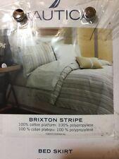 NWT Nautica Bed Skirt./ Twin Brixton STRIPE/ NEW. 100% COTTON