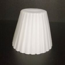 écran de verre 6cm blanc lampe abat-jour rond rechange plissée