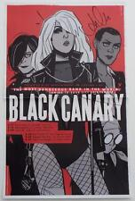 New  BLACK CANARY  DC Comics  SIGNED  ANNIE WU  2016 WONDERCON Exclusive Poster