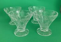 Set of (4)  24% Lead Crystal Godinger Shannon Crystal PALM TREE MARTINI GLASSES