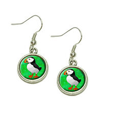 Puffin Dangling Drop Charm Earrings