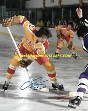 DEREK SANDERSON In ACTION Auto SIGNED 8x10 PHILADELPHIA BLAZERS WHA/BRUINS~@@
