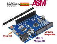 UNO R3 REV3 ATmega328 16U2 Micro USB CH340 100% Compatible with Arduino
