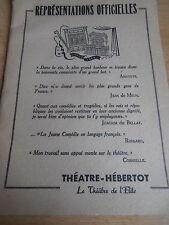 PROGRAMME THÉÂTRE HEBERTOT 1948  ( ref  27 )