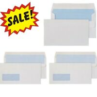 White Self Seal Plain & Window Envelopes 90gsm High Quality DL C4 C5
