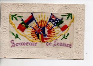 Embroidered Silk - Souvenir of France