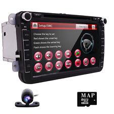 "8"" Dash Car DVD CD Player Stereo for VW volkswagen GPS Navigation Bluetooth+Cam"