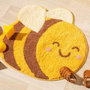 Bee Insect Childrens Bedroom Rug | Nursery Playroom Animal Home Decoration Gift