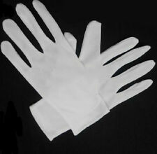 1 Pair Light Cotton Blend White Micro Dotted Grip Gloves