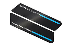 Blue Line Interceptor Saddlebag Decal Inserts For Harley Police Models 1996-2007
