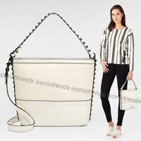 NWT 🌼 REBECCA MINKOFF BLYTHE SMALL CONVERTIBLE HOBO LEATHER ANTIQUE WHITE