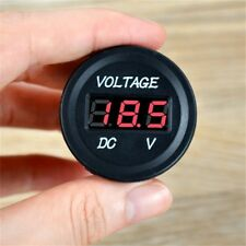 12v 24v Panel Voltmeter Gauge LED Digital Voltage Volt Meter Display