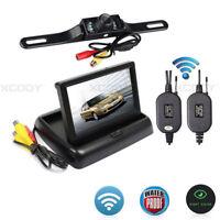 "Wireless Reverse Camera + 4.3"" LCD Foldable Parking Monitor Car Rear View Kit"